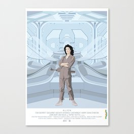 Alien (1979) movie poster - feat. Ellen Ripley Canvas Print