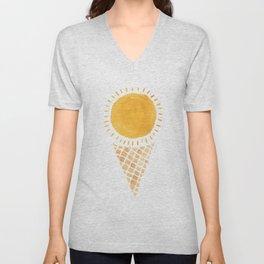 Sun Ice Cream Cone Unisex V-Neck