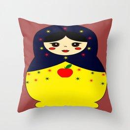 Snow White Nesting Doll Throw Pillow