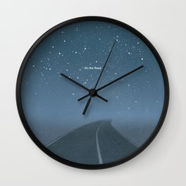 "Jack Kerouac ""On the Road"" - Minimalist literary art design, bookish gift Wall Clock"