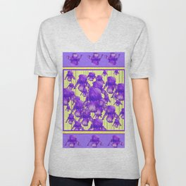 I LOVE PURPLE IRIS Unisex V-Neck