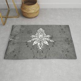 Wonderful lotus, zentangle design Rug