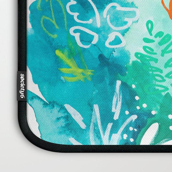 Twice Last Wednesday: Abstract Jungle Botanical Painting Laptop Sleeve