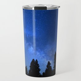 Milky Way (Black Trees Blue Space) Travel Mug