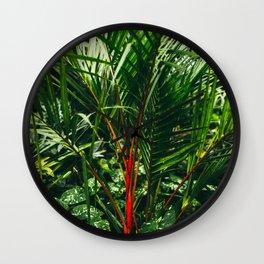 Lipstick Palm Jungle Wall Clock
