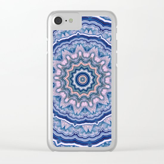 Agate Mandala Clear iPhone Case