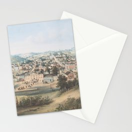 Vintage Pictorial Map of Staunton VA (1857) Stationery Cards