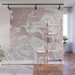 Rosegold marble Wall Mural