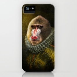 Portrait of Marquis de Mandrille iPhone Case