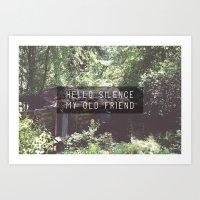 Hello Silence  Art Print
