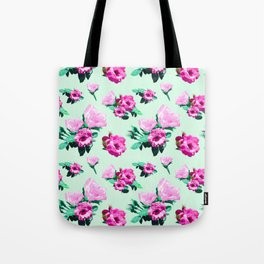 Floral Two-Pink Tote Bag