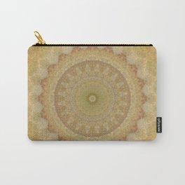 Topaz Gold Sun Marble Mandala Carry-All Pouch