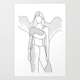 Modern Angel Art Print