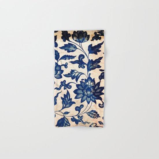 Blue Oriental Vintage Tile 06 Hand & Bath Towel