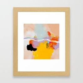 yellow blush abstract Framed Art Print