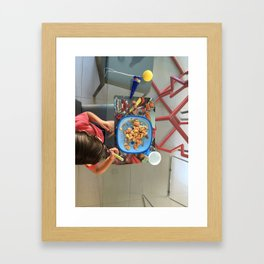 Breakfast Kid Framed Art Print
