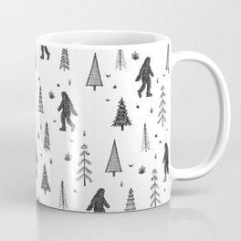 trees + yeti pattern Coffee Mug