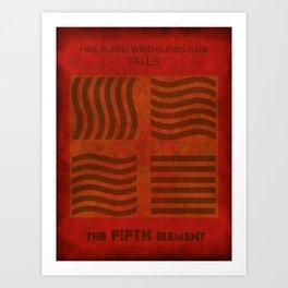 Fire Burns - Fifth Element Art Print