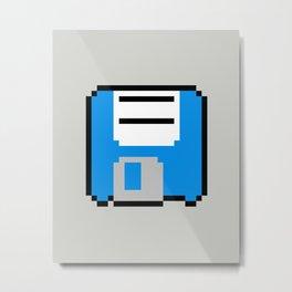 Floppy Disk - Blue Metal Print