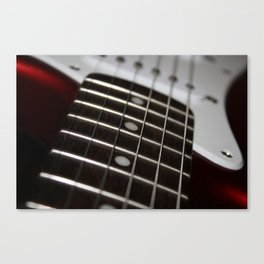 Red Stratocaster Canvas Print