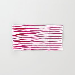 Irregular watercolor lines - pink Hand & Bath Towel