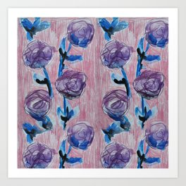 Rose Petals Series Paintings Art Print
