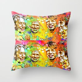 The Stones Pop Art Painting Throw Pillow