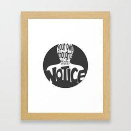 Notice – Grey (Original) Framed Art Print