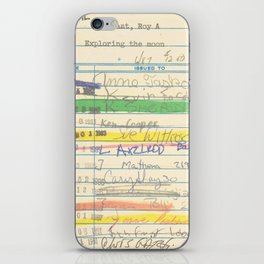 Library Card 3503 Exploring the Moon iPhone Skin