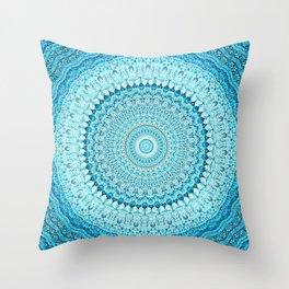 Coastal Spray Mandala Throw Pillow