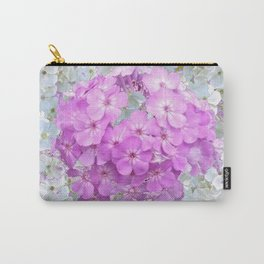 LILAC & WHITE PHLOX FLOWERS Carry-All Pouch