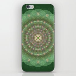 Blessing Mandala green - מנדלה ברכה ירוק iPhone Skin