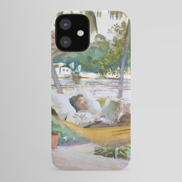 Figure in Hammock, Florida by John Singer Sargent iPhone Case