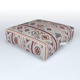 Caucasian Rugs(Stripe) - White Outdoor Floor Cushion