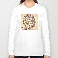 vinyl Long Sleeve T-shirts featuring Vinyl by Davide Bonazzi