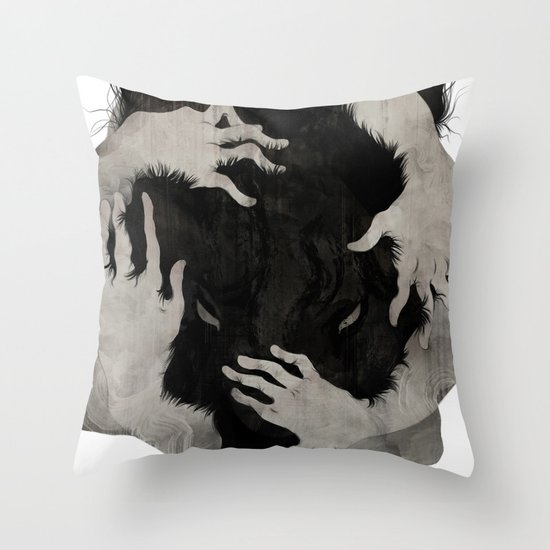 Wild Dog Throw Pillow