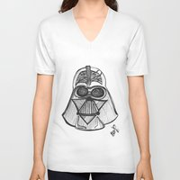 dark side V-neck T-shirts featuring Dark Side by Josée Lennon
