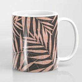 Elegant rose gold Tropical leaves Coffee Mug