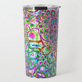 Colorful Synaptic Channels Travel Mug