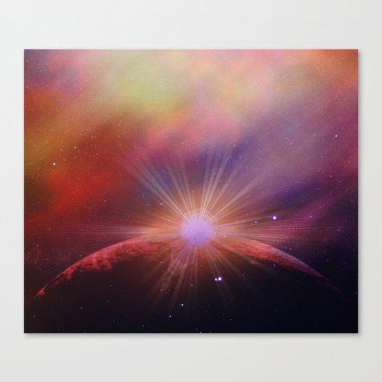 Mars rises Canvas Print