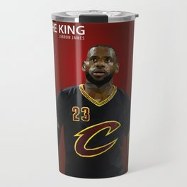 The King: LeBron LBJ James Travel Mug