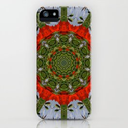Red Poppies, Floral mandala-style iPhone Case