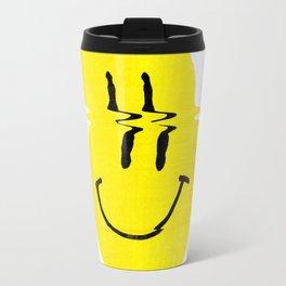 Smiley Glitch Travel Mug