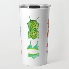 Evolution of the swimsuit Travel Mug