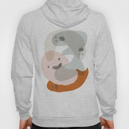 Shapes and Layers no.15 - soft neutral colors Hoody