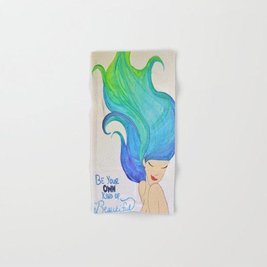 Beautiful (Blue/Green) - Hair Series Hand & Bath Towel