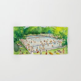 Deep Eddy Pool - Austin, Texas Hand & Bath Towel