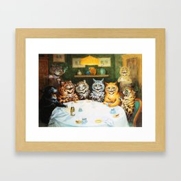 Kitty Happy Hour - Louis Wain's Cats Framed Art Print