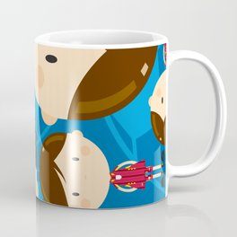 Cartoon Soccer Player Pattern Coffee Mug
