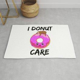 I Donut Care Sloth Indifferent Lazy Sleep Rug